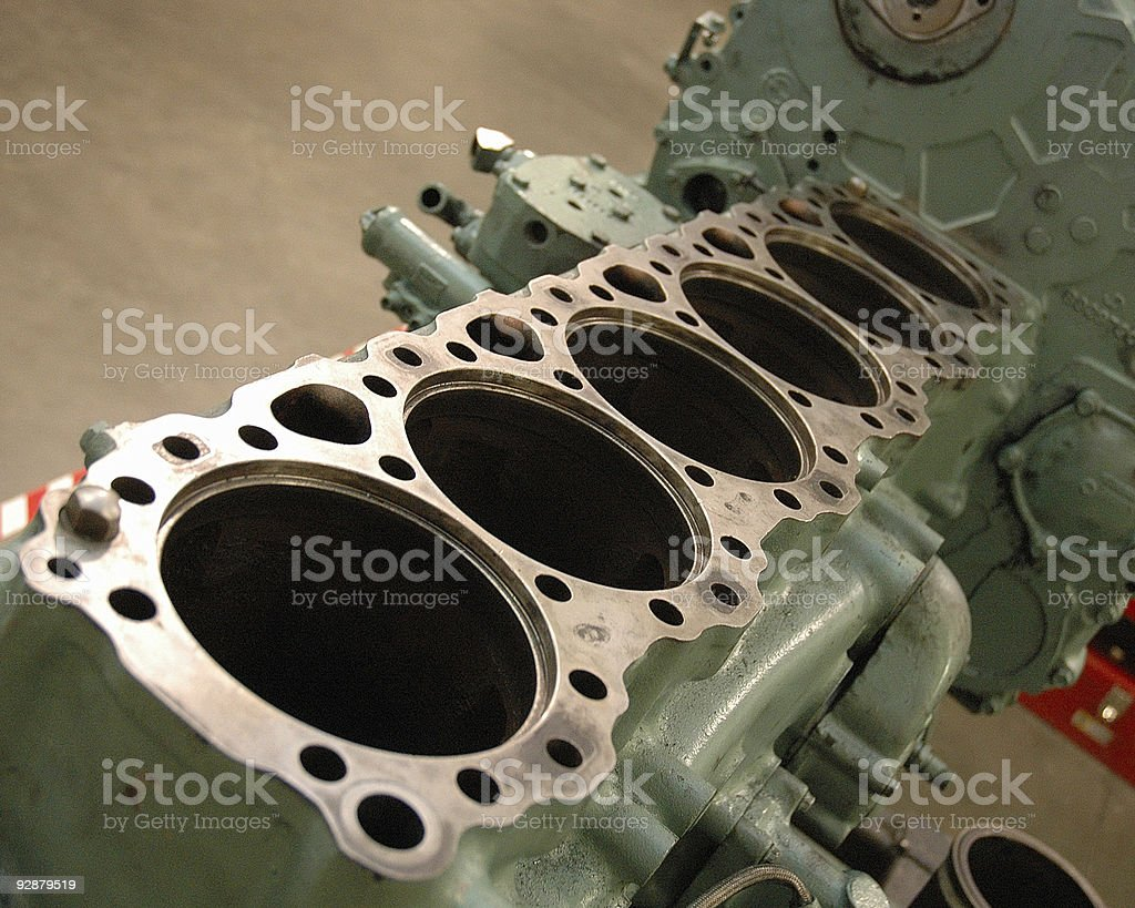 big block diesel engine stock photo