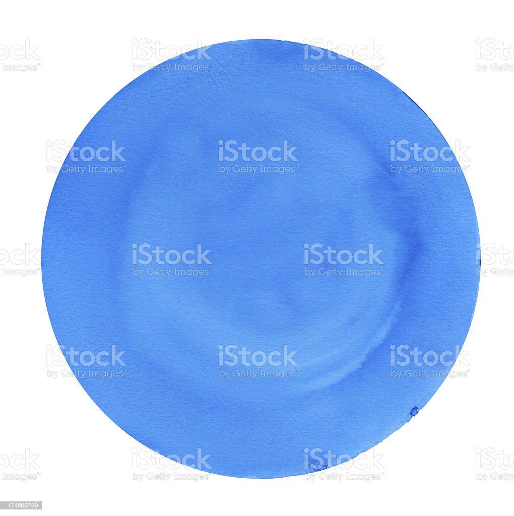 Big Blue Circle Frame stock photo