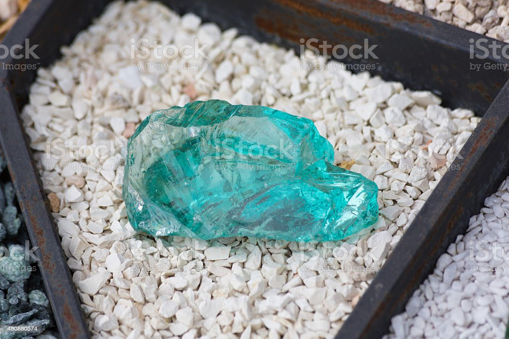 Big blue crystal stock photo