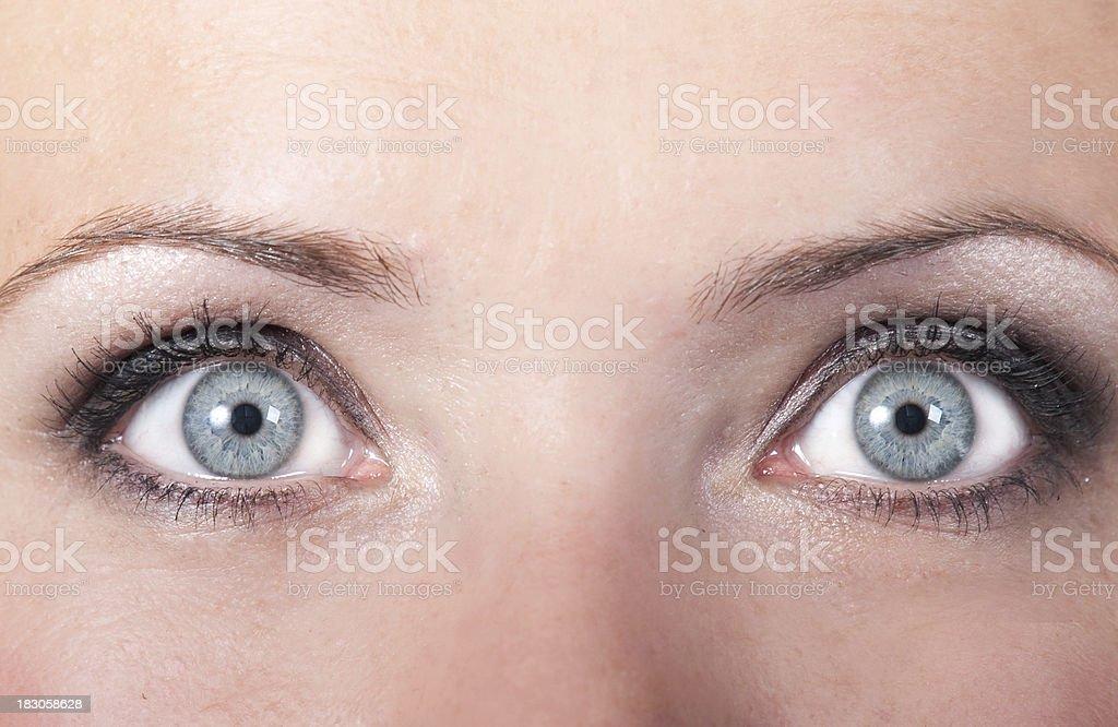 Big blue eyes stock photo