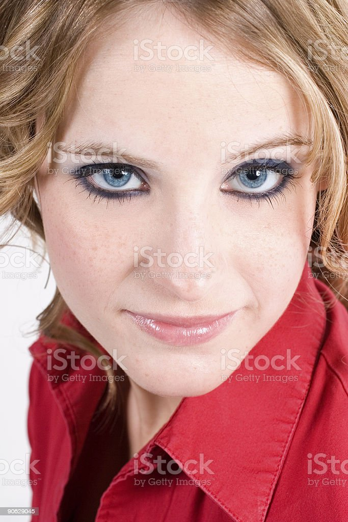 Big Blue Eyes stock photo