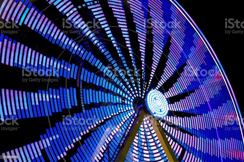 big blue ferris wheel stock photo