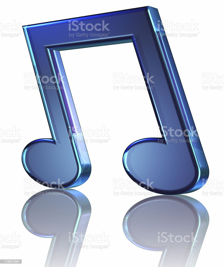 Big Blue Note royalty-free stock photo