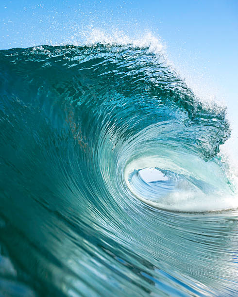 big blue right vert - wave stock photos and pictures