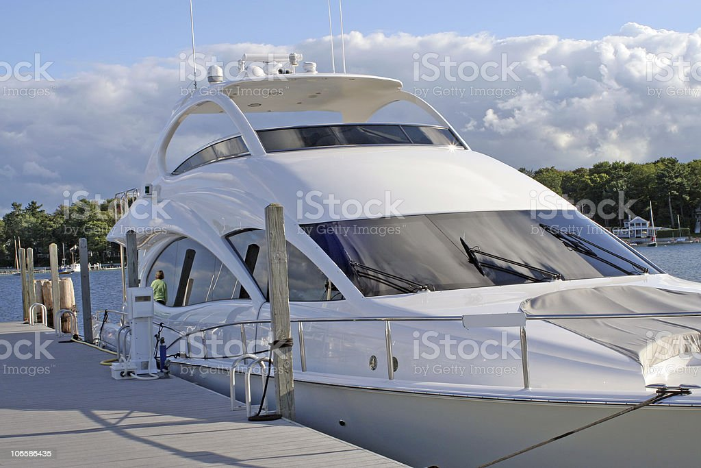 Big Boat in Michigan royalty-free stock photo