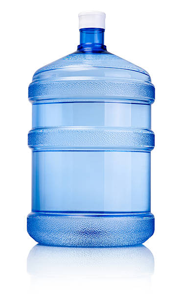 Big bottle of drinking water isolated on a white background Big bottle of drinking water isolated on a white background gallon stock pictures, royalty-free photos & images