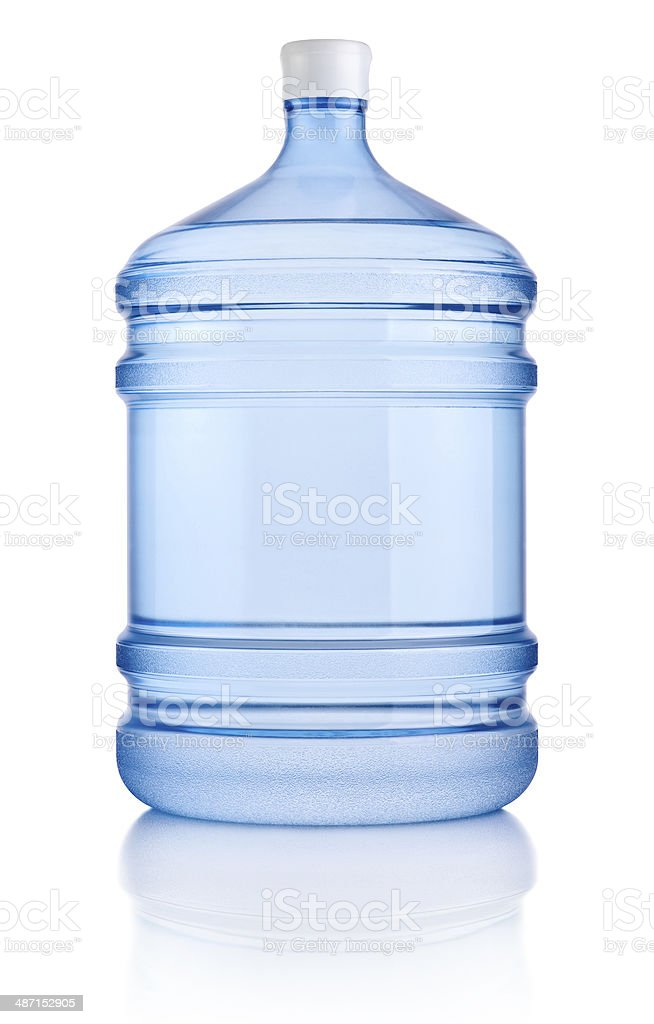 Big bottle of water isolated on a white background stock photo