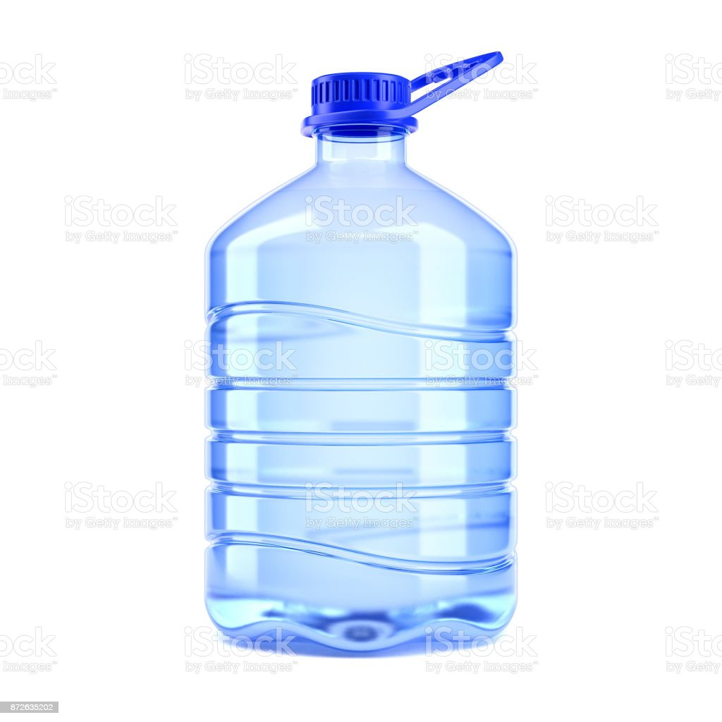 Big bottle of water on a white background 3d rendering stock photo