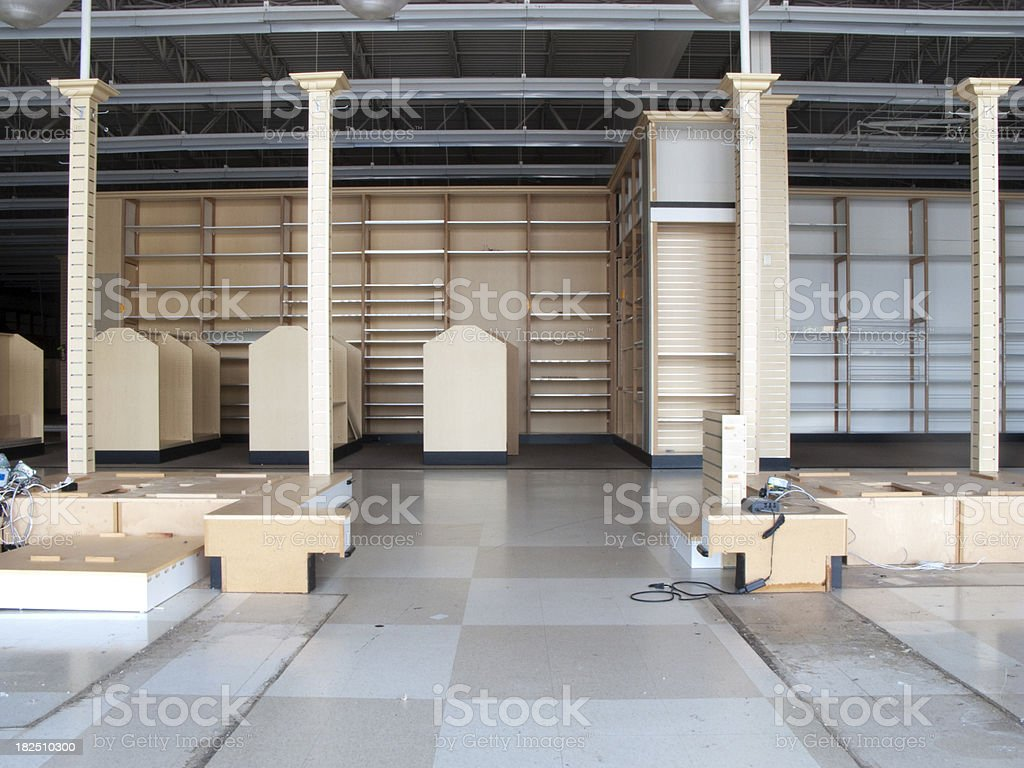 Big Box Retail Closed For Recession & Bad Economic Times royalty-free stock photo
