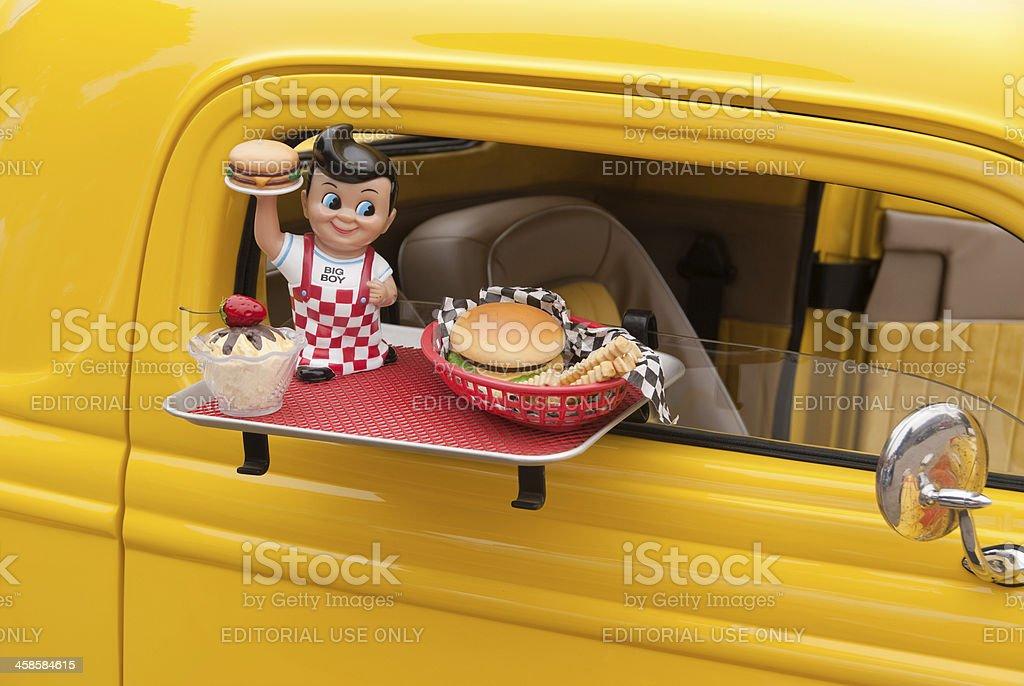 Big Boy restaurant doll stock photo