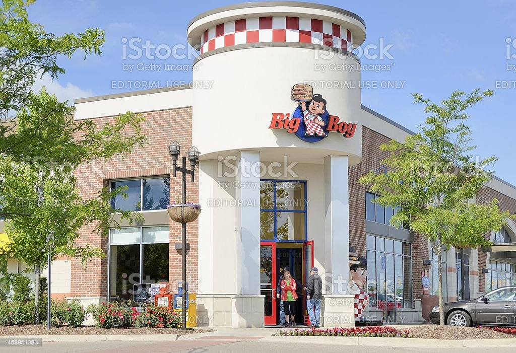 Big Boy Restaurant stock photo