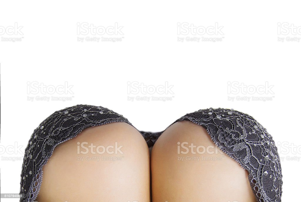 Big breasts and sexy cleavage stock photo