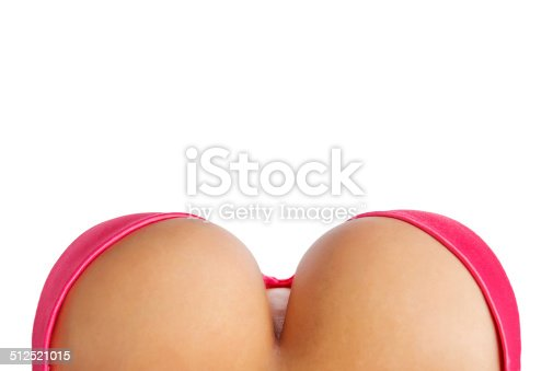 498310066istockphoto Big breasts in pink bra from above 512521015