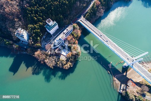 istock A big bridge over the mountain. 898877216