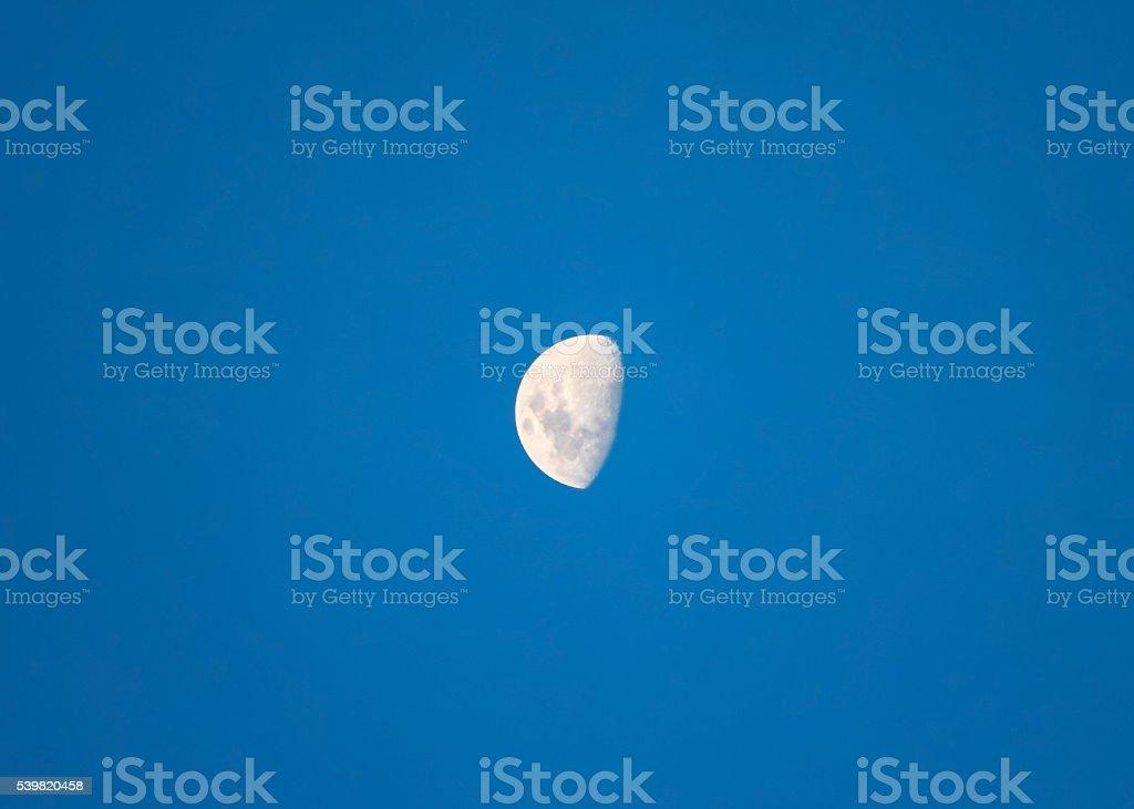 Big bright moon waxing gibbous stock photo
