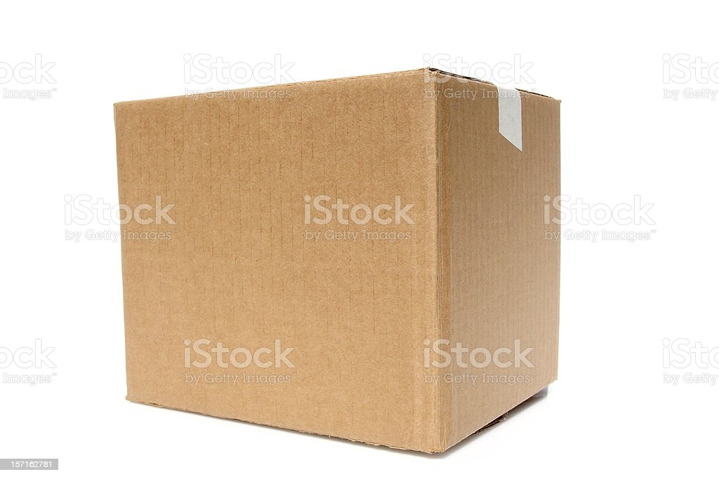 Big Brown Box ready to be stamped stock photo