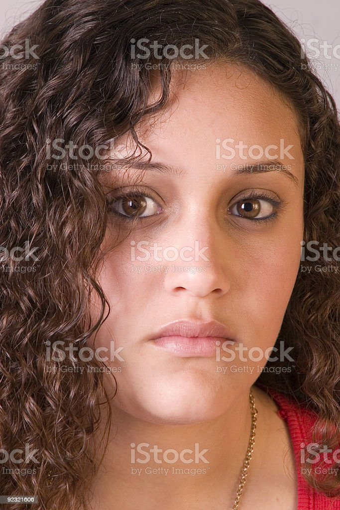 Big brown eyes royalty-free stock photo