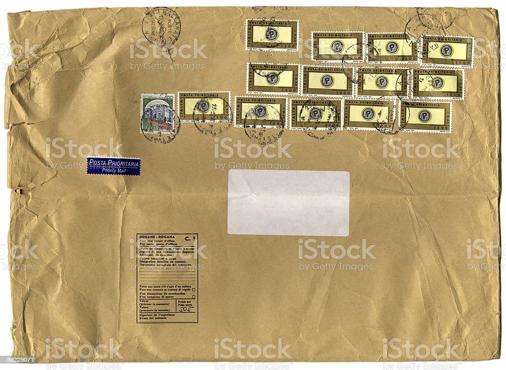 Big Brown Italian Envelope XXL royalty-free stock photo