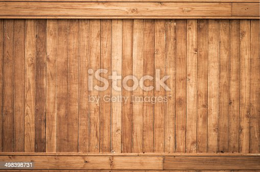 istock Big Brown wood plank wall texture background 498398731