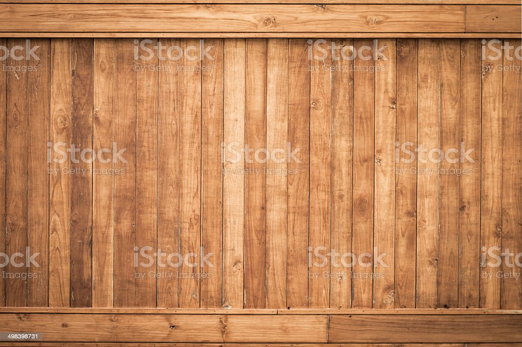 Big Brown wood plank wall texture background stock photo