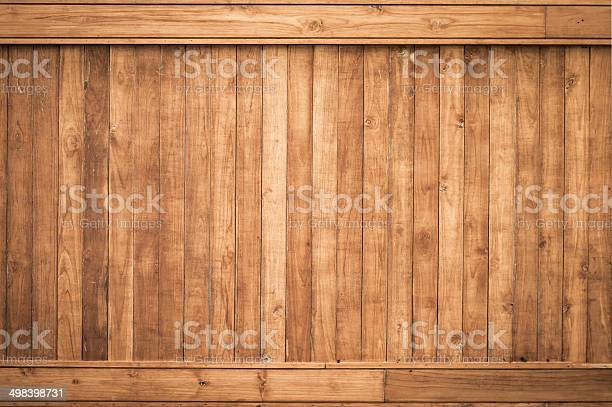 Photo of Big Brown wood plank wall texture background
