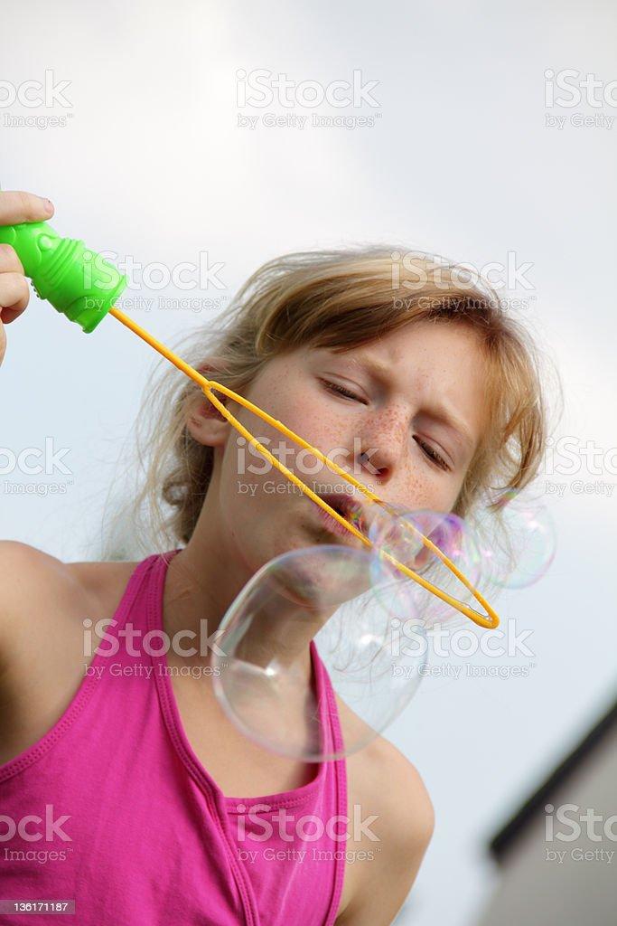 big bubbles stock photo