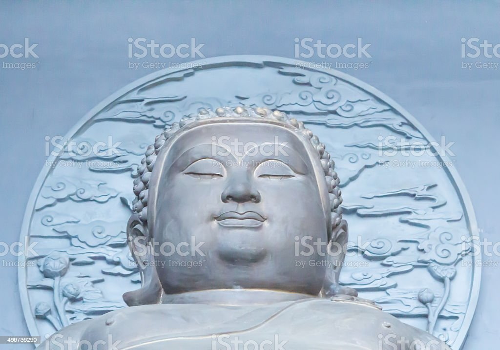 Big Budda face stock photo