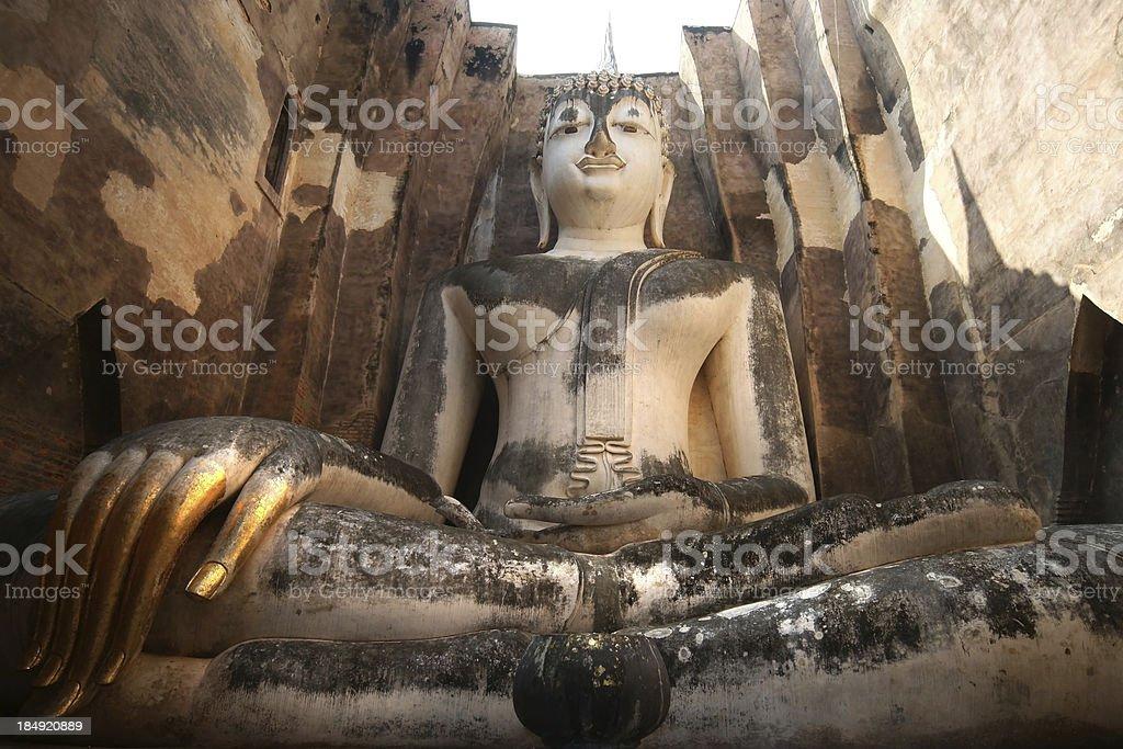 Big Buddha at Sukhothai Province, Thailand royalty-free stock photo