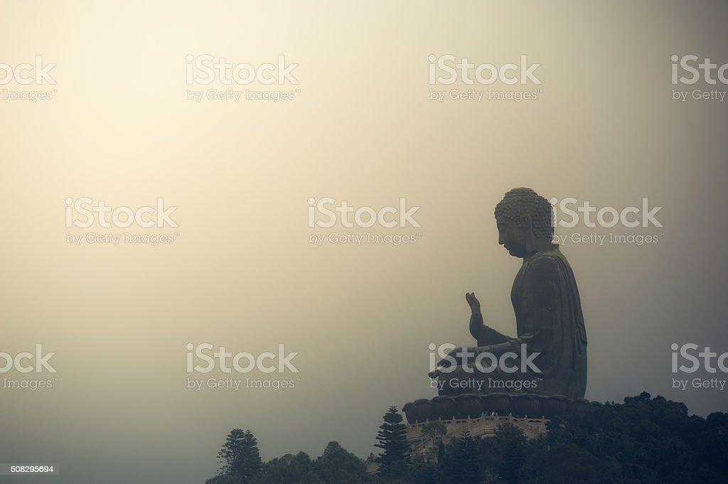 Big Buddha in Hong Kong stock photo