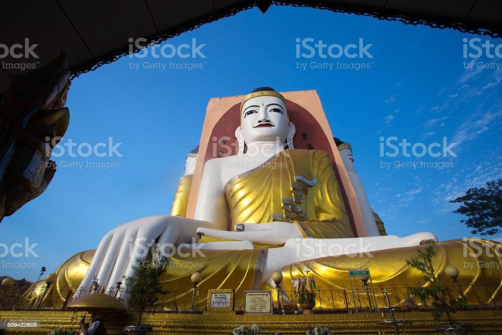 Big Buddha in Myanmar stock photo