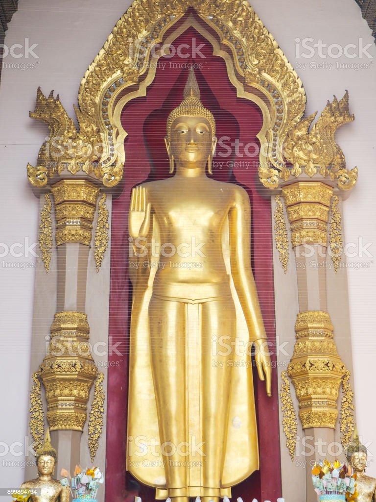 Big Buddha in Phra Pathom Chedi Temple , Nakhon Pathom, Thailand. stock photo