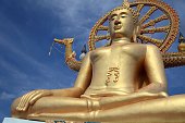 Big Buddha in Wat Phra Yai, on Koh Samui, Thailand