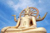 Big Buddha in Wat Phra Yai, on Koh Samui, Thailand