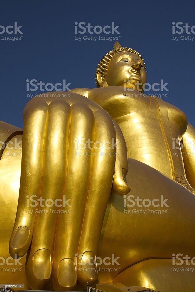 Big Buddha statue at Angthong Province, Thailand stock photo