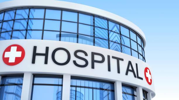 grand hôpital de génération et de la note. illustration 3d - hopital psychiatrique photos et images de collection