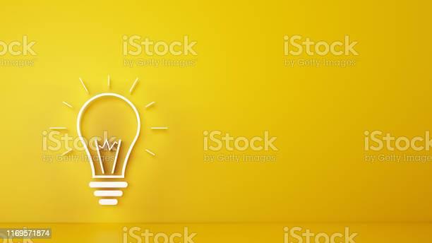 Big bulb light on a yellow background 3d rendering picture id1169571874?b=1&k=6&m=1169571874&s=612x612&h= xcgwytboxqv9xofc16x8bfyehawjhaeb8q1laa dgc=