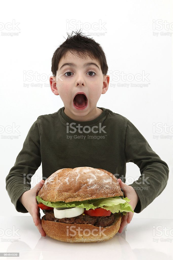 Big Burger royalty-free stock photo