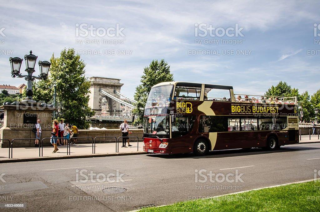 Big Bus Budapest stock photo