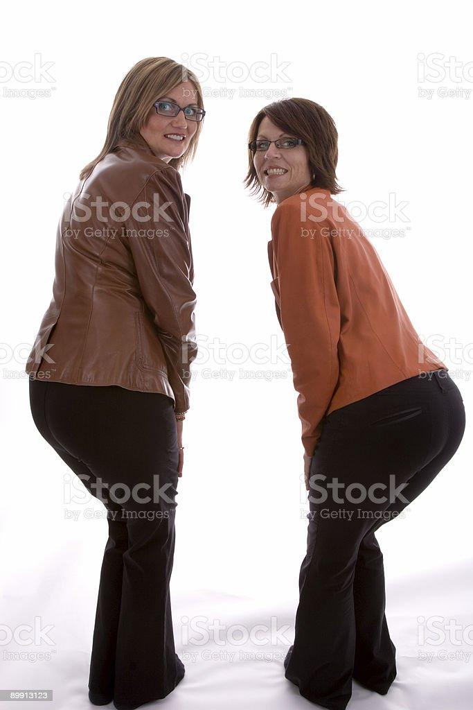 Большой ягодиц деловых женщин Стоковые фото Стоковая фотография
