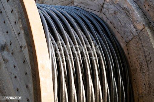 Big cable drum - telecommunication