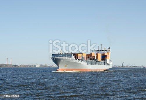 istock Big Cargo ship 628608950