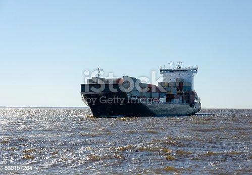 istock Big Cargo ship 860157264