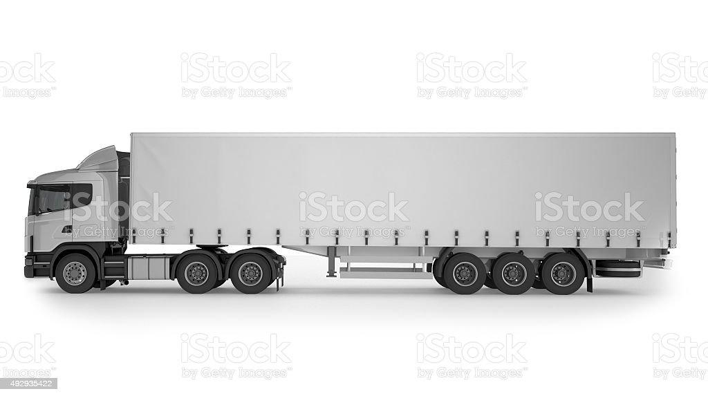 Big Cargo Truck on white background stock photo