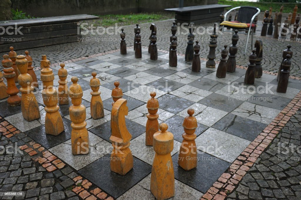 Big Chess game on the street zbiór zdjęć royalty-free