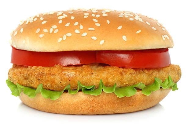 Große hamburger mit Huhn – Foto