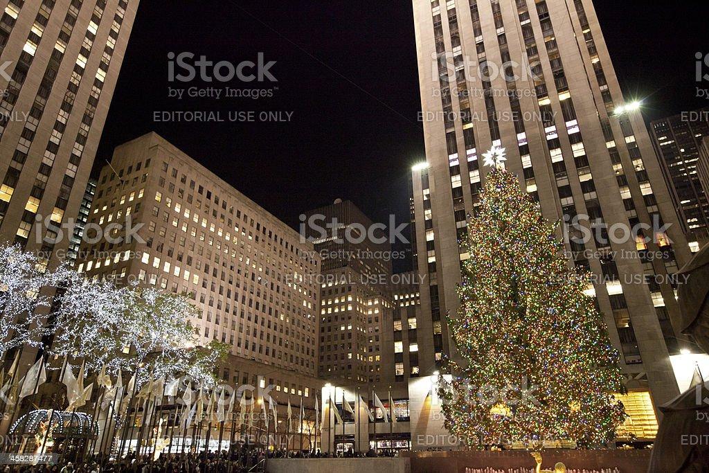 big christmas tree in new york city royalty free stock photo - Big Christmas Tree In New York