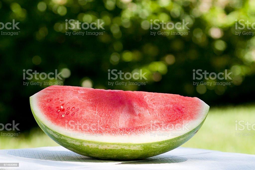 Big chunk of watermelon royalty-free stock photo