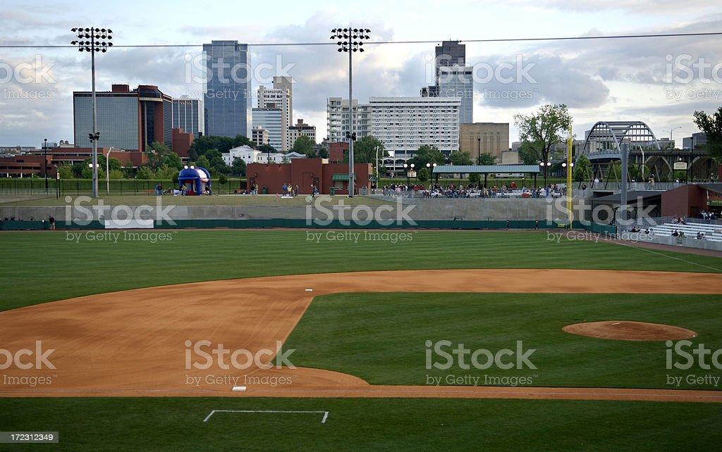 Big City Baseball Park royalty-free stock photo