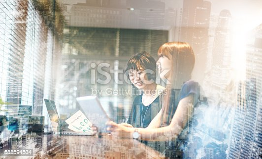 589445574 istock photo Big city lights reflects on our corporate business 588594534