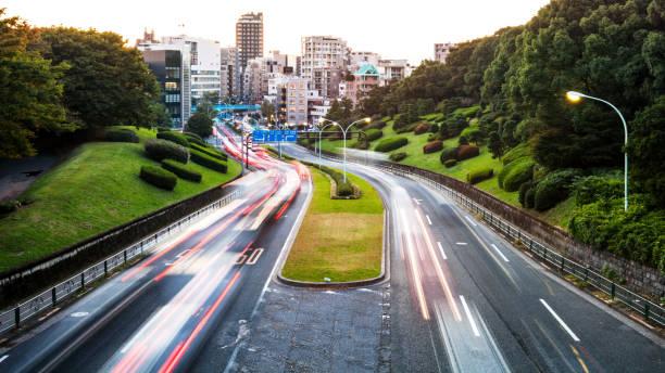 Big city traffic - Tokyo, Japan stock photo